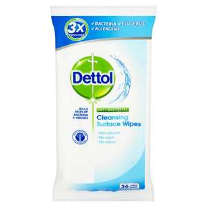 Dettol Antibacterial Surface Cleanser Wipes £1 at Morrisons