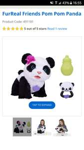 Furreal pompom panda £24.99 @ This Is It Stores