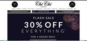 30% off everything Chi Chi London 4 hours only
