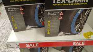 Pair of Tex-Chain Anti-Skid Snow and Ice Wheel Covers - 2 pack, Various sizes- Reduced to £9 ASDA instore