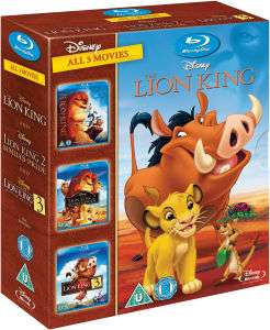 The Lion King Trilogy Blu-Ray £13.99, DVD £9.99 with free delivery @ zavvi
