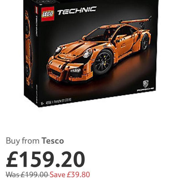 Lego technic Porsche 911 - £159.20 Tesco