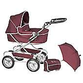 Silver Cross Classic Dolls Pram - Aubergine with Parasol & Bag age range 5 - 11 years £35 C+C @ Tesco Direct