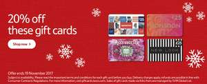 20% off gift cards - New Look - Gap - Accessorize - Monsoon @ Tesco online/instore