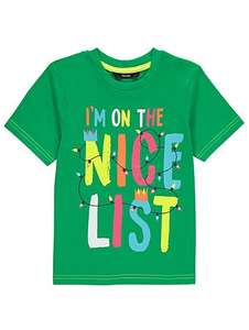 Kids Nice List Slogan Christmas Top aged 1 - 6yrs £2 - £2.50 C+C @ Asda George (more in OP)