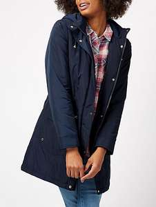 Shower Resistant Hooded Parka - navy (size 18) £6 - Asda