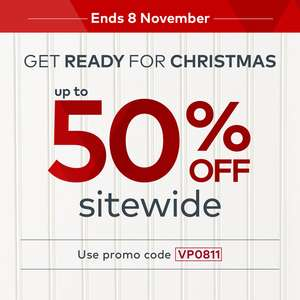 Vistaprint up to 50% off sitewide on personalised Christmas gifts, starting from £3.67