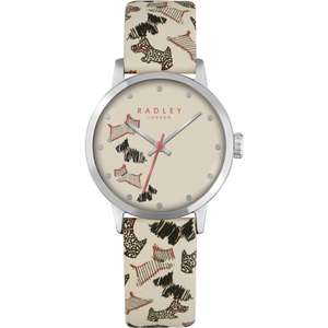 Radley Ladies Fleet Street Cream Leather Strap Watch RY2367 just £36.99 with Gift Box & Free Next Day Delivery @ Watches2U (Using code) - still £75 at Debenhams