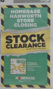 Homebase Hanworth store closing - stock clearance on selected items...