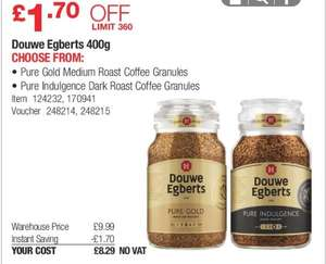 DOUWE EGBERTS 400G EXTRA LARGE JAR £8.29 IN COSTCO