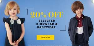 asda george 20% off selected kidswear and babywear online offer has started