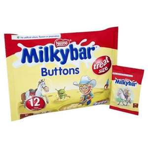 Milky Bar Buttons White Chocolate Mini Bags 189g 50p @ Asda - Benwell Newcastle