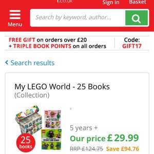 My LEGO World - 25 Books £29.99 delivered @ The book people + Free gift with code