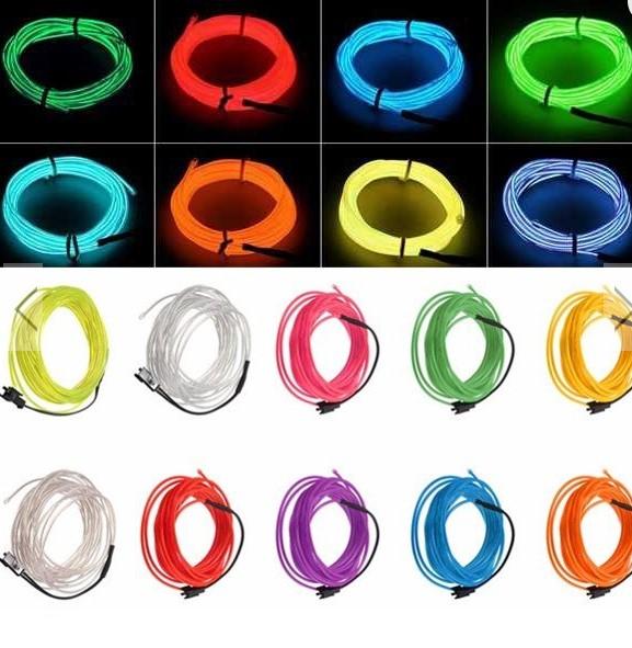 5M 10 colors 3V Flexible Neon EL Wire Light Dance Party Decor Light £3.13 - BangGood