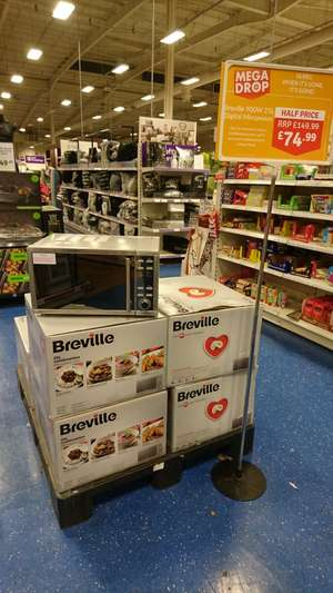 Breville 900W 25L STAINLESS STEEL Combination Microwave with Grill £74.99 (half price) INSTORE @ The Range