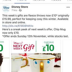 Disney Store Chip Mug reduced from £14.99 to £10 instore / £13.95 delivered from 13-19th November