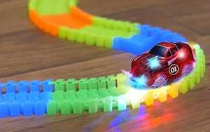 169 Piece Glow In The Dark Flexible Electric Car Racetrack - £5.95 delivered @ Amazon / EDUFUN - UK Vat Receipt Supplied