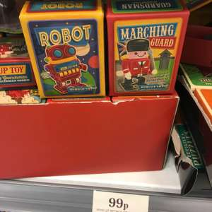 Robot/Marching Guard Wind-Up Toy in store 99p @ Home Bargains