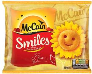 McCain Smiles (454g) was £1.60 now £1.00 @ Morrisons & Iceland