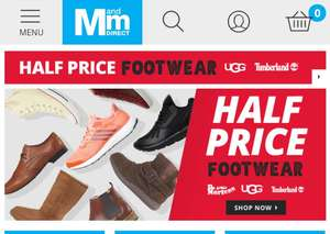 Massive sale on shoes and trainers @ M and M Direct - Prices from £1.99 (plus £4.49 P&P on orders under £70)