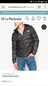The North Face Jackets Half Price (for items over £100) with code 'XMAS' £85 @ La Redoute