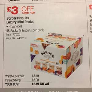 Border Biscuit Luxury 48 pack for only £5.49 absolute bargain! Instore @ Costco