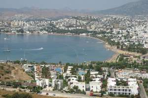 July 2018, Gumbet, Turkey, 7 nights SC family of four Inc flights and apart hotel, flying from London Stansted 147pp via loveholidays.com