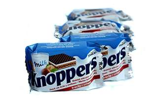 Knoppers 25g 4 pack £1 at the range. RRP 50P Each.