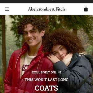 Abercrombie & Fitch - Up to 40% off coats and jackets