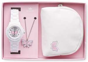 Children's Watch Gift Set butterfly/football/heart/skull theme £8.99 delivered Aldi