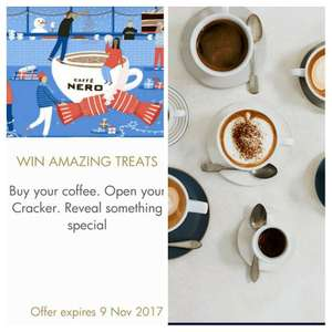 Free Caffè Nero hot drink from O2 priority  + win prizes when you pay with your  Caffè Nero app