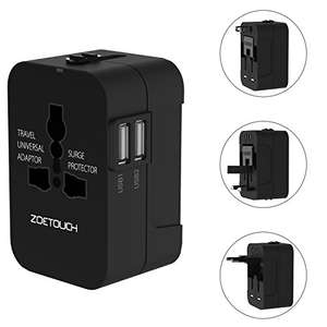 ZOETOUCH Universal Travel Adapter - Amazon Lightning Deal - £7.99 @ Sold by zoetouch and Fulfilled by Amazon
