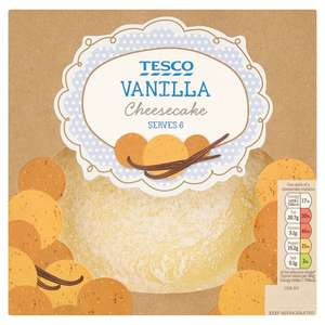 Vanilla Cheesecake 540g for £1.62 @ Tesco (from tomorrow 08/11)