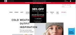 35% off full-price styles, 20% off sale styles, and free delivery using code @ GAP