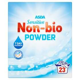 ASDA sensitive non bio washing powder 23 wash £1.13 instore