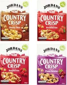 Jordans country crisp 4 varieties 500g reduced to £1.50 @ Morrisons