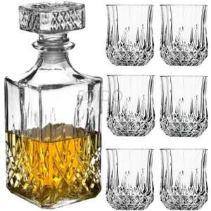Glass Decanter + 6 Whiskey Glasses - £7.99 delivered @ eBay / unlimitedseller