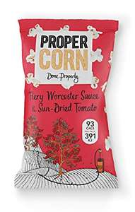 PROPERCORN Fiery Worcester Sauce & Sun-Dried Tomato Popcorn 20 g (Pack of 24) cheapest according to CCC - £5.14 (Add on item) @ Amazon