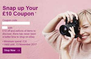 £10 off £30 spend at eBay (account specific)