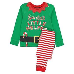 Santa's Little Helper Elf Christmas pyjamas back in stock £6 at George, Asda. Free C&C or £2.95 for delivery.