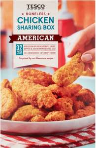 Tesco American Boneless Chicken Sharing Box (32 per pack - 635g) was £4.00 now £2.50 @ Tesco