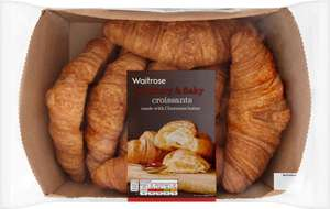 Waitrose French Butter Croissants 8 per pack was £2.75 now 3 packs for £6.00 @ Ocado