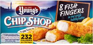 Young's Chip Shop Fish (Alaskan Pollock 56%) Fingers (8 per pack - 200g) was £1.99 now 2 packs for £2.00 @ Ocado