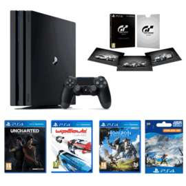PS4 Pro 1TBGT Sport Limited Edition - Only at GAMEUncharted: The Lost LegacyHorizon Zero DawnHorizon Zero Dawn: The Frozen WildsWipEout Omega Collection