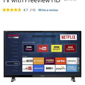 Sharp LC-32HG5141K 32 Inch Smart HD Ready LED TV with Freeview HD £199 @ Tesco