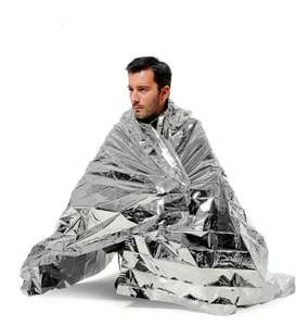 Camping Emergency Blanket First Aid Rescue Foil Thermal Insulation £1.09 - BangGood