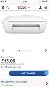 HP DJ2130 all in one printer at tesco for £15