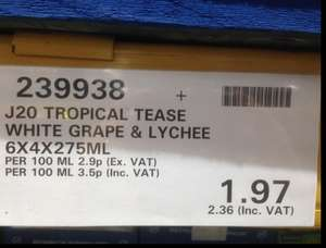 Costco Chester. J20 Tropical Tease pack of 24 - £2.36