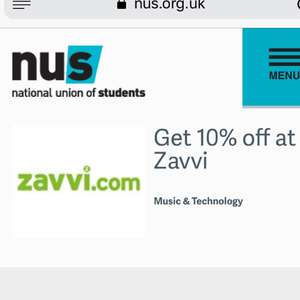 10% off at Zavvi with NUS code