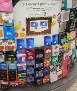 App Store & iTunes Gift Card £50 - reduced to £42.50 @ Morrisons instore (15% discount)